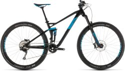 Велосипед Cube STEREO 120 RACE 29 black-blue