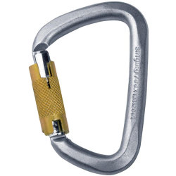 Карабин Singing Rock D Steel Triple Lock screw gate 50kN