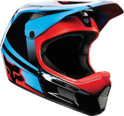 Велосипедный шлем FOX RAMPAGE COMP IMPERIAL black-blue