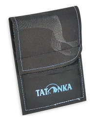 Кошелек Tatonka HY Neck Wallet (Black/Bright Blue)
