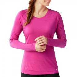 Кофта Smartwool Merino 150 Baselayer Pattern Long Sleeve Berry
