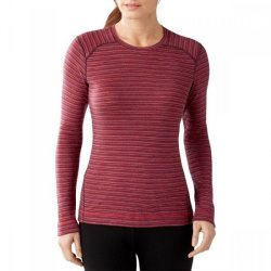 Кофта Smartwool Merino 250 Baselayer Pattern Crew Aubergin Heather