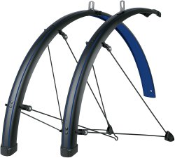 Крылья SKS Bluemels Stingray Mudguards 45mm 28˝ Matt Black/Ocean Blue