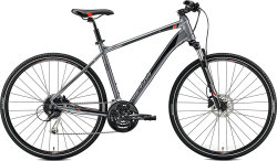 Велосипед Merida CROSSWAY 100 dark silver red-black
