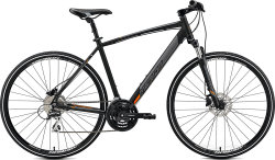 Велосипед Merida CROSSWAY 20-D matt black orange