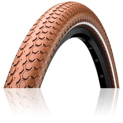 "Покрышка Continental Ride Cruiser Reflex 28""x2.00, Wire, ExtraPuncture Belt коричневая"