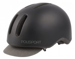 Велосипедный шлем Polisport COMMUTER black matte-grey