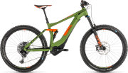 Велосипед Cube STEREO HYBRID 140 RACE 500 27,5 green-orange