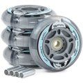Колеса SFR Light Up Inline Wheels 72/82A grey