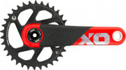 Шатуны Sram X01 DH DUB 34T, 165mm, 10-11 Speed черно-красные