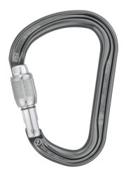 Карабин Petzl William screw lock grey