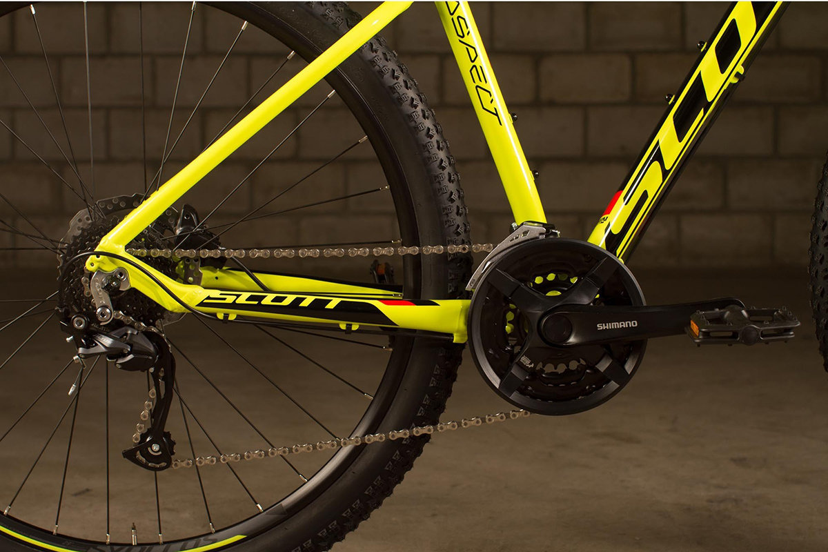 Велосипед Scott ASPECT 950 29 yellow-red  Scott ASPECT 950 29 crankset 265293.009