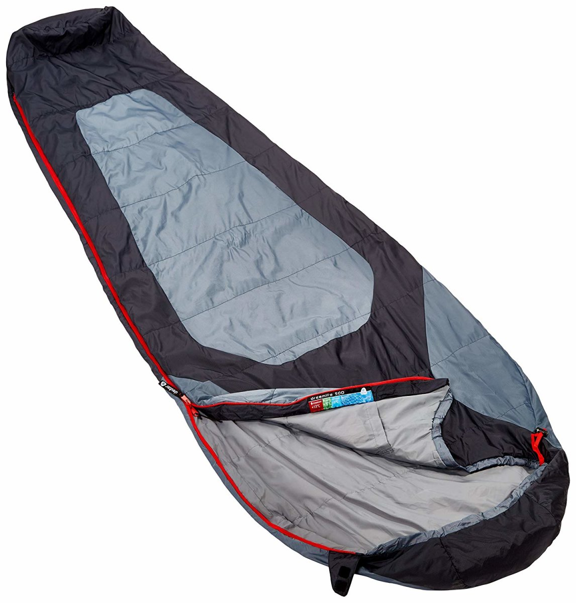 Спальник Deuter DREAM LITE 500 L left black grey 1 Спальник Deuter DREAM LITE 500 left black grey 37081 4100 1