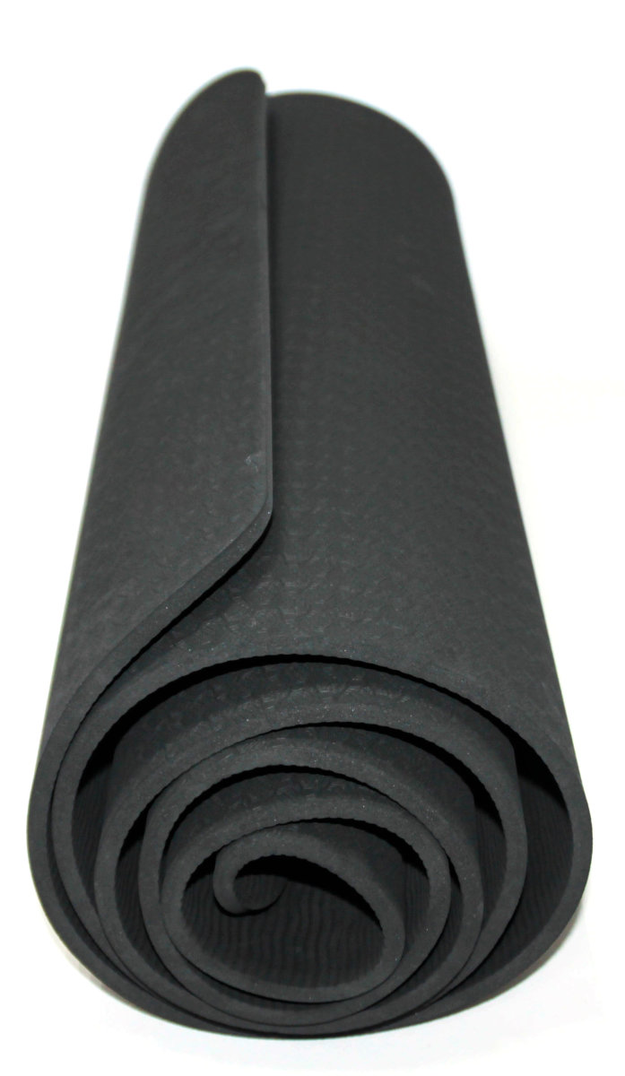 Мат Для Йоги Lifesport 183X61Cm 6Mm Yoga Mat Tpe(Single Layer) 2 Мат Для Йоги Lifesport 183X61Cm 6Mm Yoga Mat Tpe(Single Layer) HK2308-black