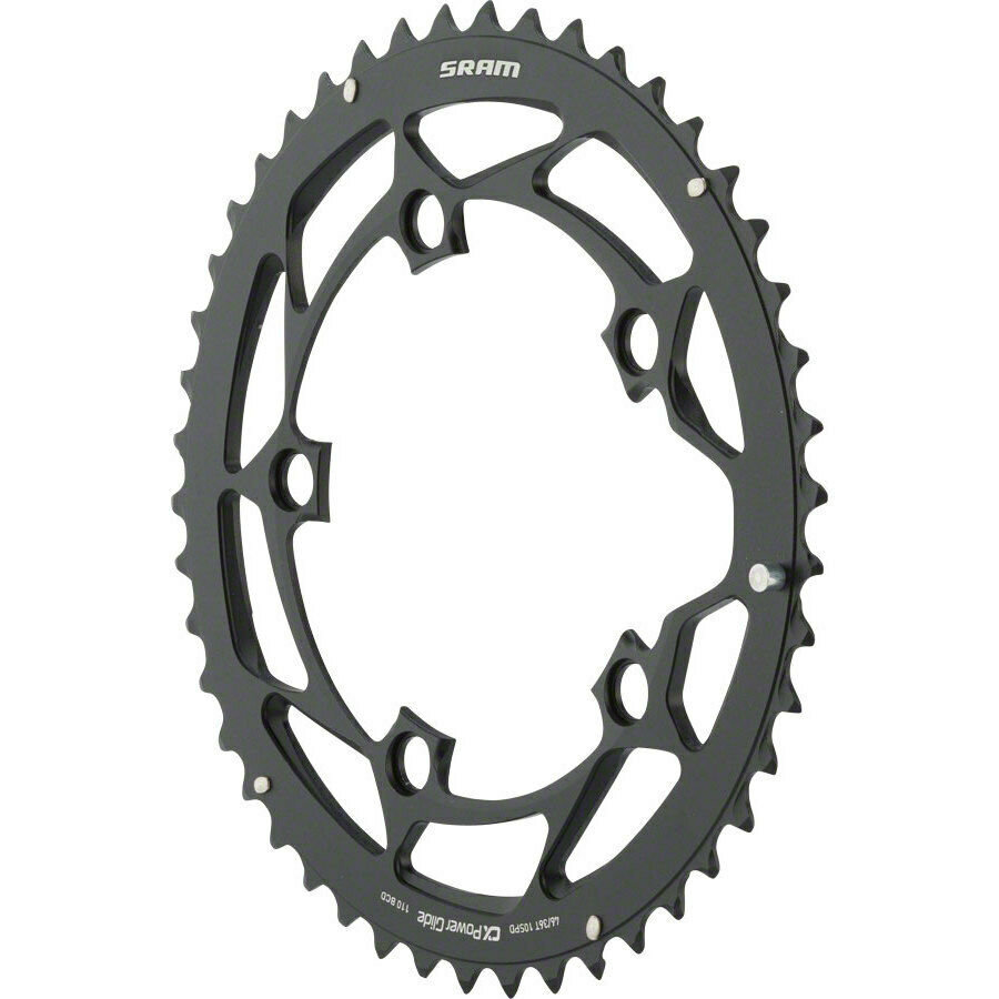Звезда Sram POWERGLIDE CRING ROAD 46T 10S 110 AL4 BLK L-PIN GXP 2 POWERGLIDE CRING ROAD 11.6215.197.180