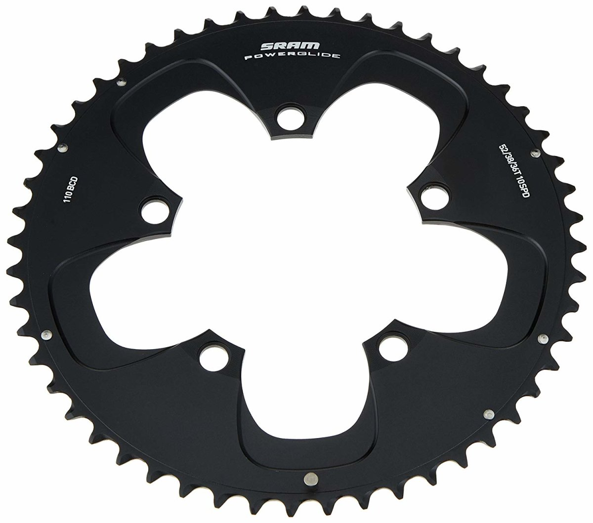 Звезда Sram Road Red 52T S1 110 Alum 4mm Black (52-36, 52-38) 2 Road Red 11.6215.198.050