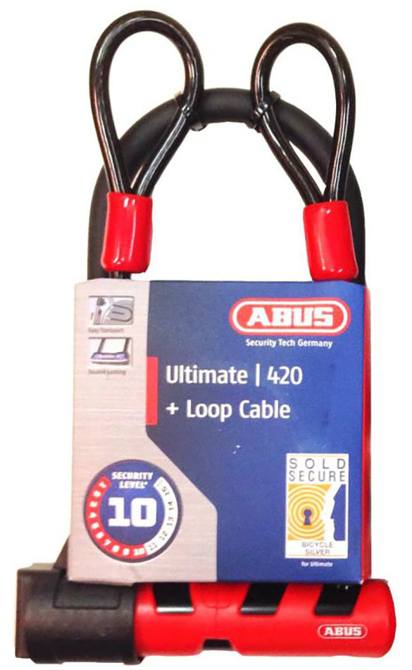 Замок Abus 420/150HB140 Ultimate USH + 10/120 Red 3 420/150HB140 Ultimate USH + 10/120 819698