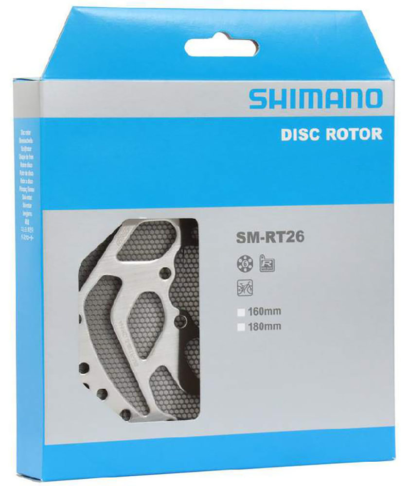 Ротор Shimano SM-RT26-M 6 bolts 180 мм 3 Deore XT SMRT26M