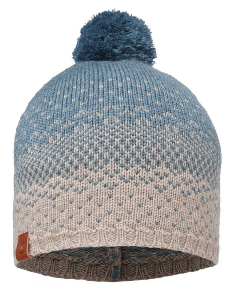Шапка с помпоном Buff Knitted Hat mawi stone blue 3 Knitted Hat BU 2010.754.10