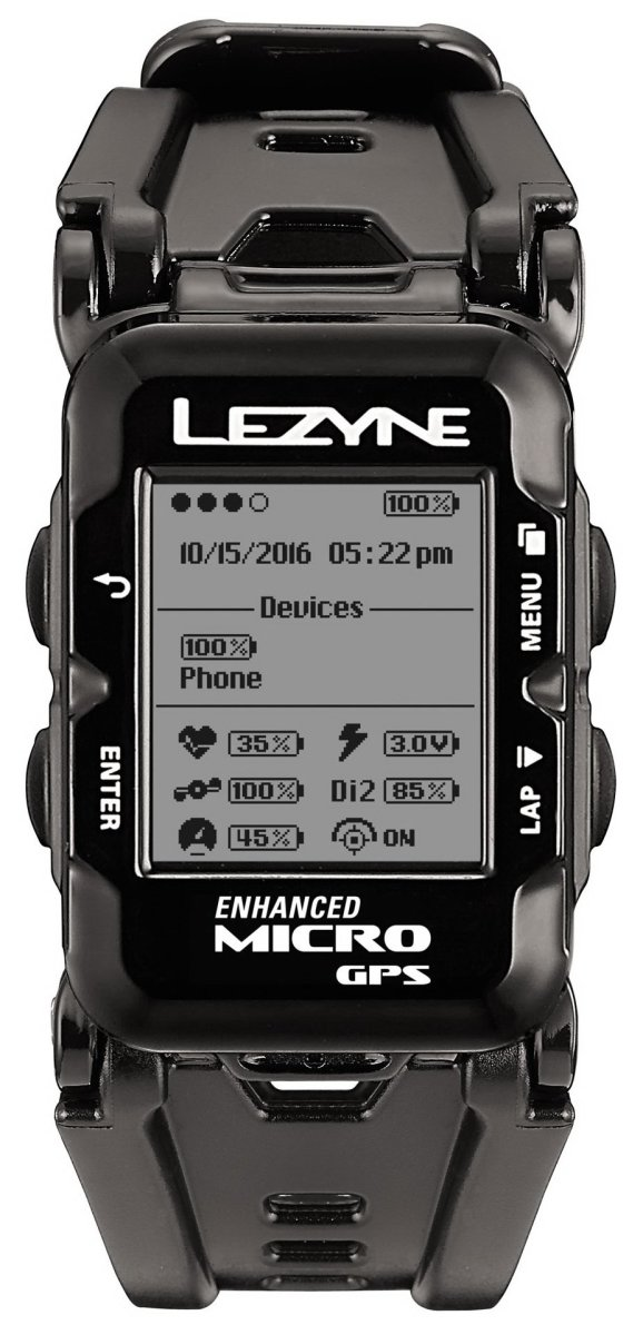 Часы Lezyne Micro GPS Watch черный 3 Micro GPS Watch