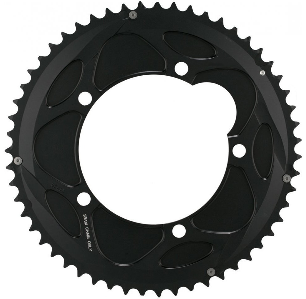Звезда Sram POWERGLIDE CRING ROAD Red 10S 53T 130 AL4 BLK TT 3 POWERGLIDE CRING ROAD Red 11.6215.198.020