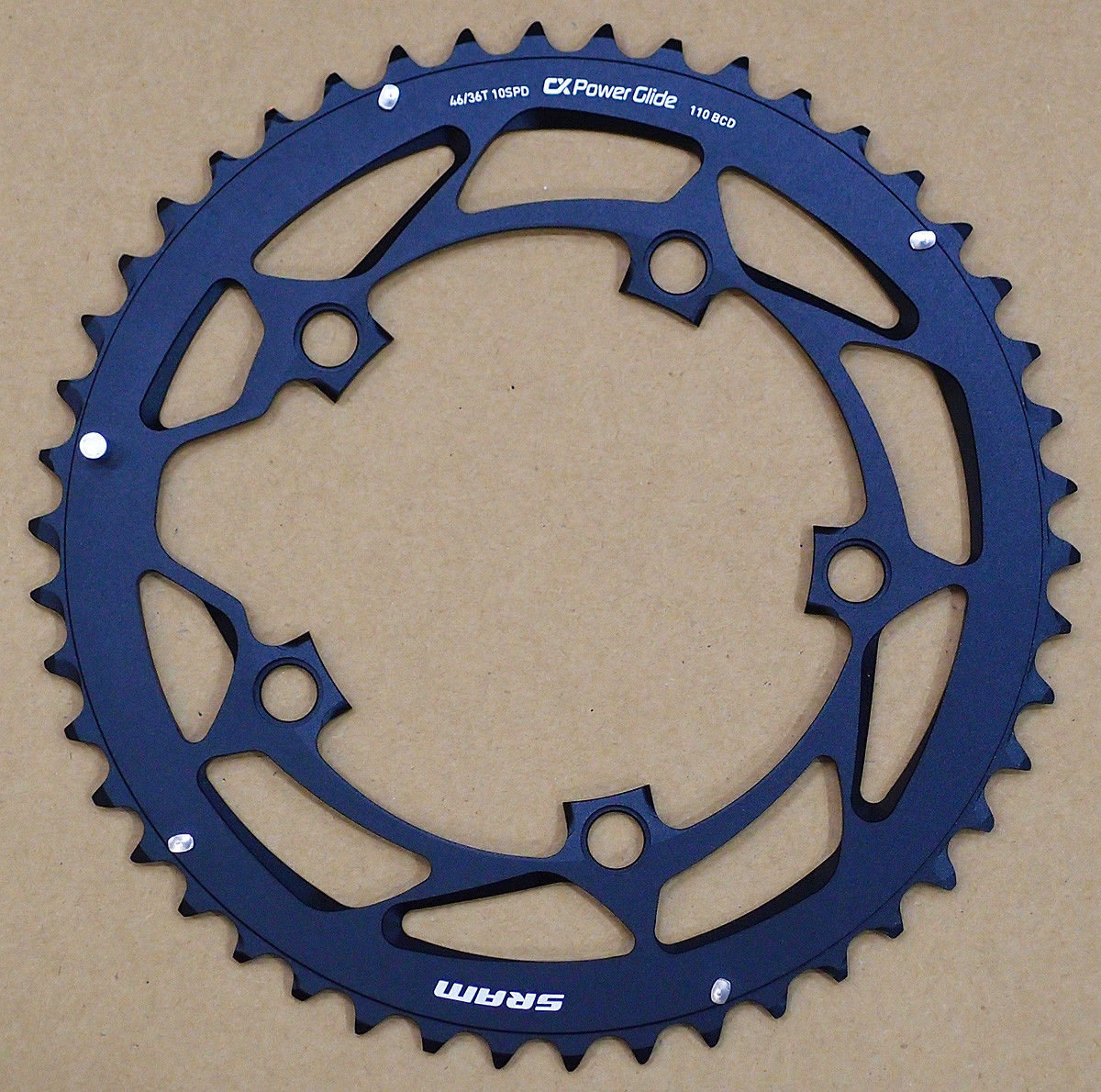 Звезда Sram POWERGLIDE CRING ROAD 46T 10S 110 AL4BLK S-PIN BB30 3 POWERGLIDE CRING ROAD 11.6215.197.190