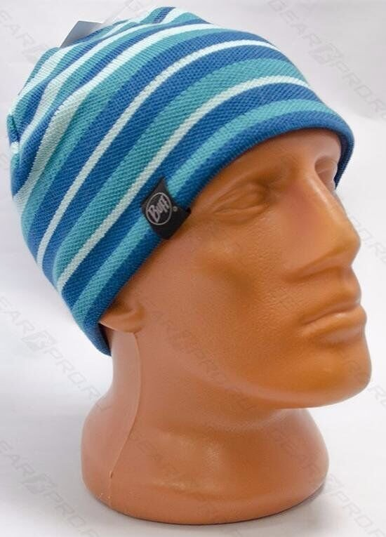 Шапка Buff Knitted & Polar Hat Laki stripes blue 4 Knitted & Polar Hat BU 113520.789.10.00