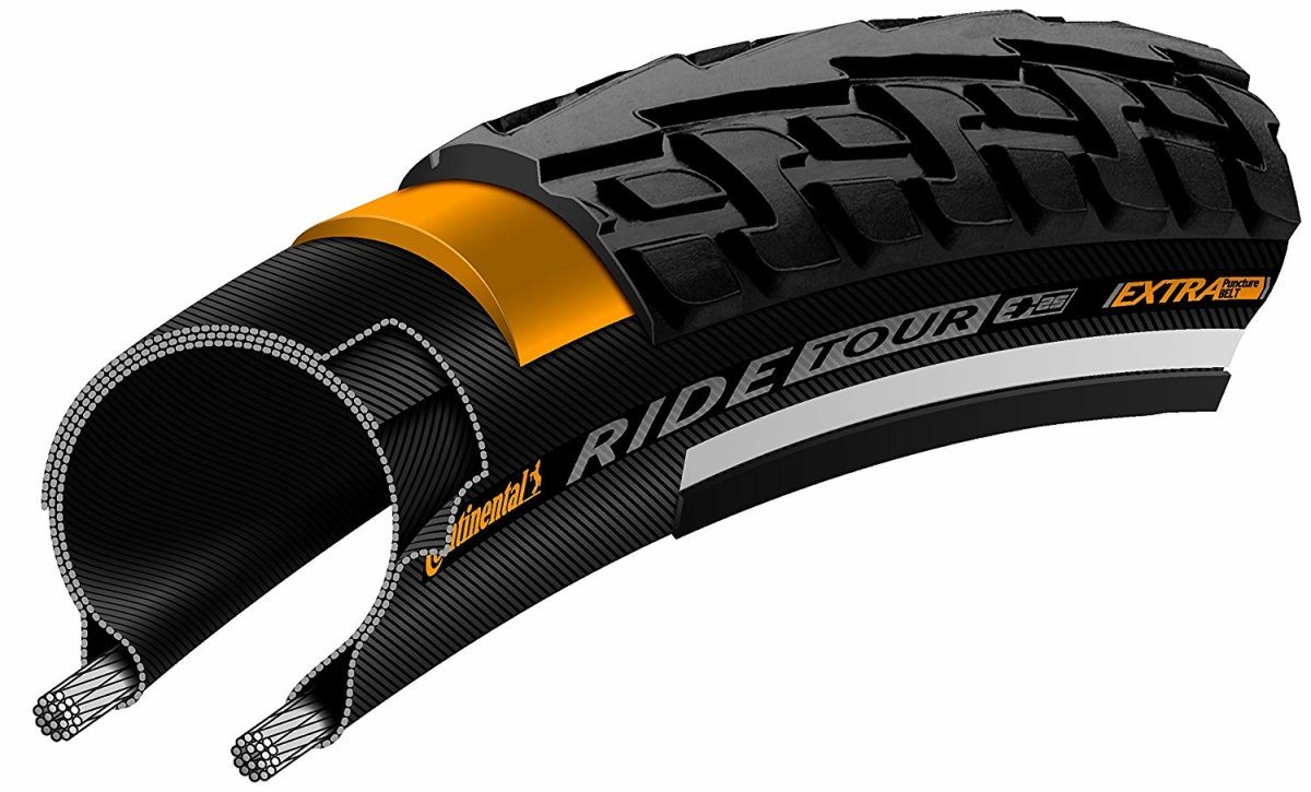 "Покрышка Continental Ride Tour Reflex, 28"", 700x32C, 28x1 1/4x1 3/4, Wire 4 Ride Tour 101154"