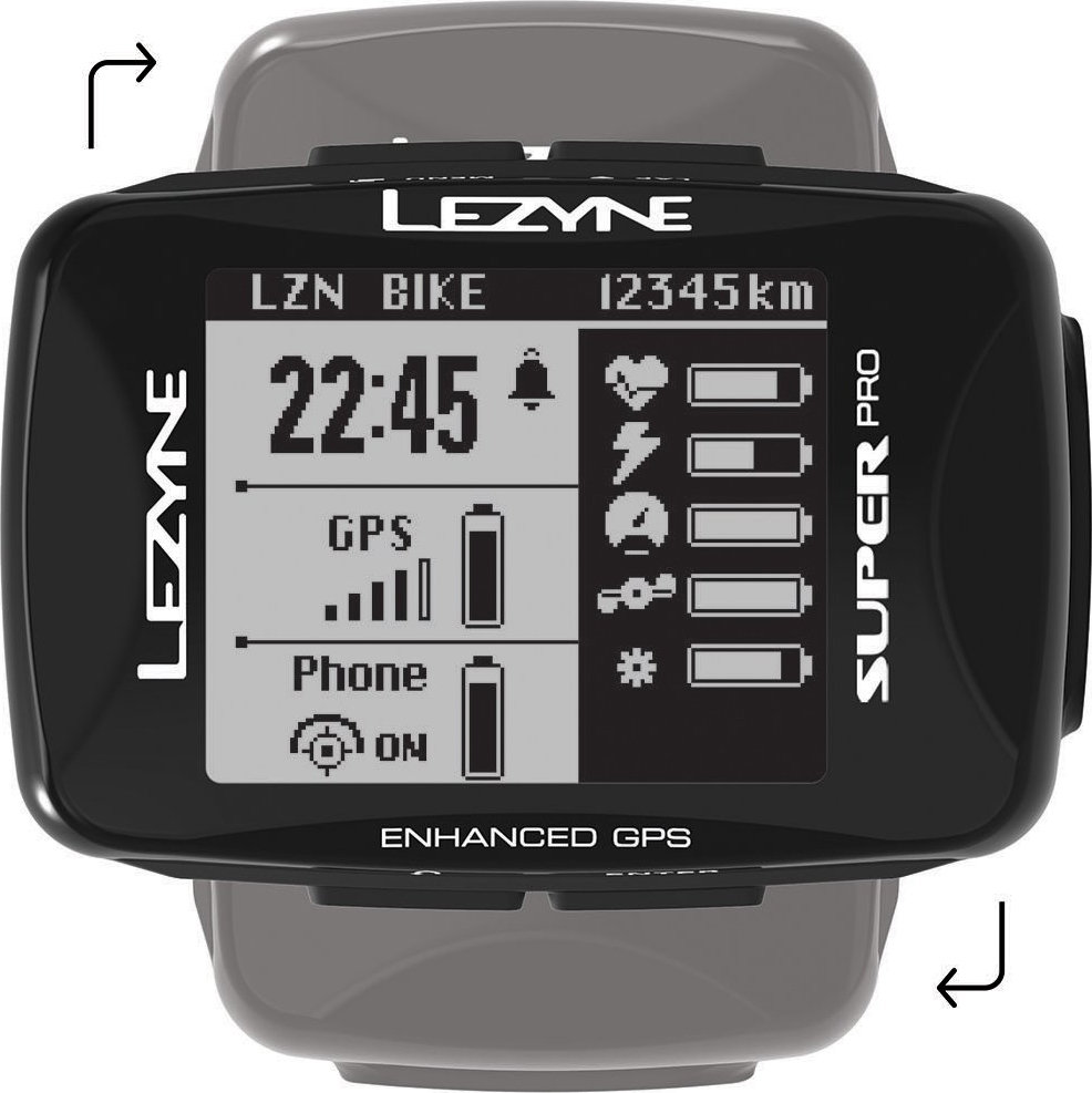 Компьютер Lezyne Super Pro GPS Smart Loaded черный 4 Super Pro GPS Smart Loaded 4712806 003715