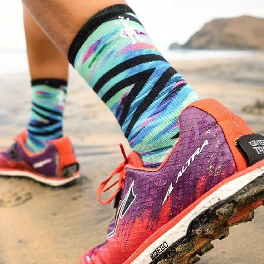 Носки женские Smartwool PhD Run Ultra Light Print Crew (Capri) 5 PhD Run Ultra Light Print Crew SW 01164.810-M