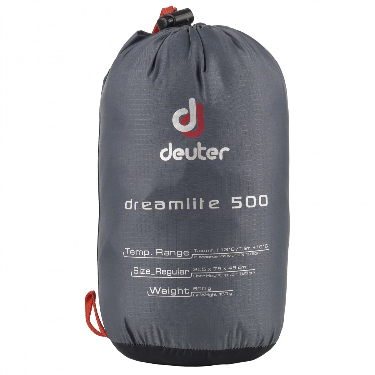 Спальник Deuter DREAM LITE 500 L left black grey 5 Спальник Deuter DREAM LITE 500 left black grey 37081 4100 1