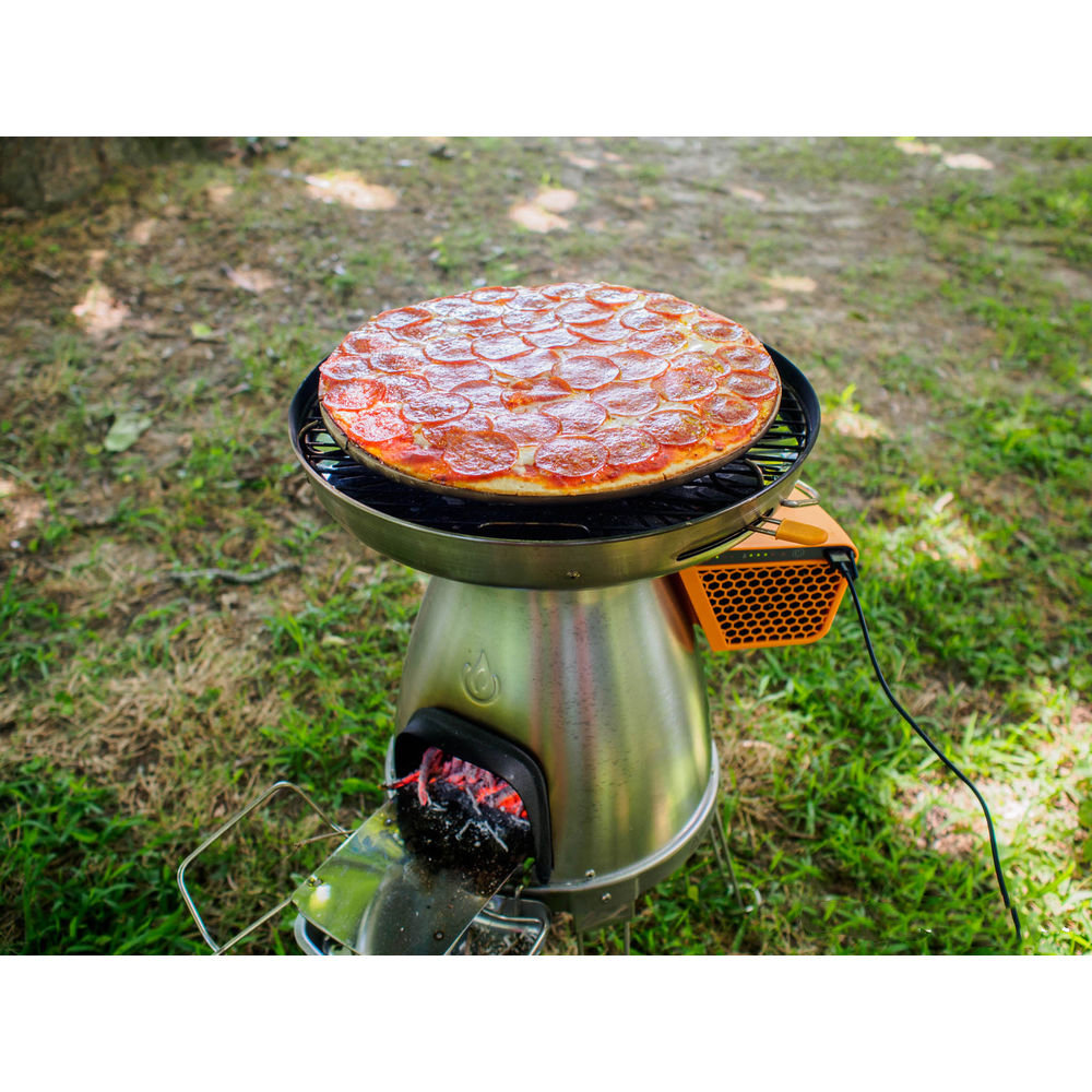 Горелка-зарядка Biolite Basecamp Pizza Stone and Lid кемпинговая на дровах 5 BLT CAB1001