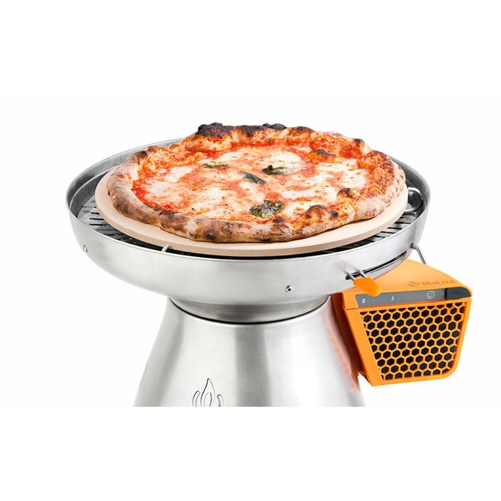 Горелка-зарядка Biolite Basecamp Pizza Stone and Lid кемпинговая на дровах 7 BLT CAB1001