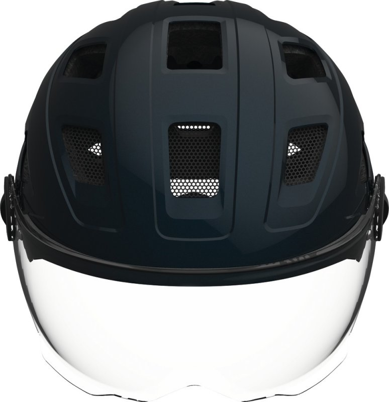 Велосипедный шлем Abus HYBAN+ clear visor midnight blue Abus HYBAN front 726385