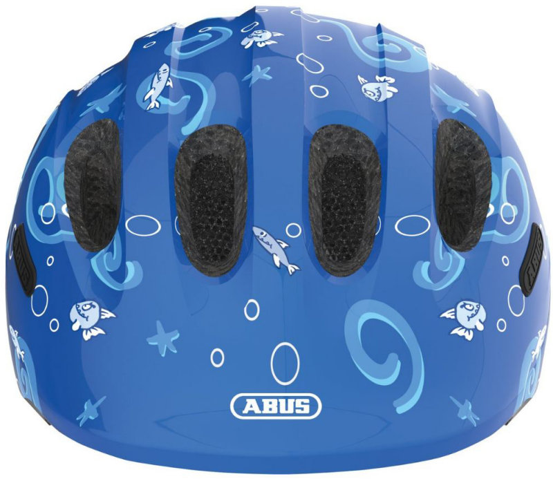 Велосипедный шлем Abus SMILEY 2.0 blue sharky Abus SMILEY 2.0 blue sharky front