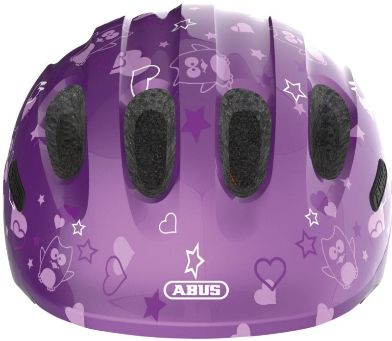 Велосипедный шлем Abus SMILEY 2.0 purple star Abus SMILEY 2.0 front 725685 725692