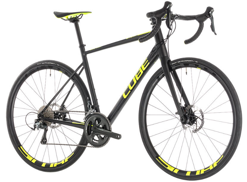 Велосипед Cube ATTAIN RACE DISC black-flashyellow ATTAIN RACE DISC 27,5 side