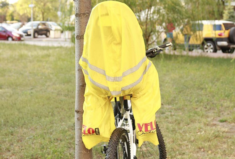 Bicycle seat cover back