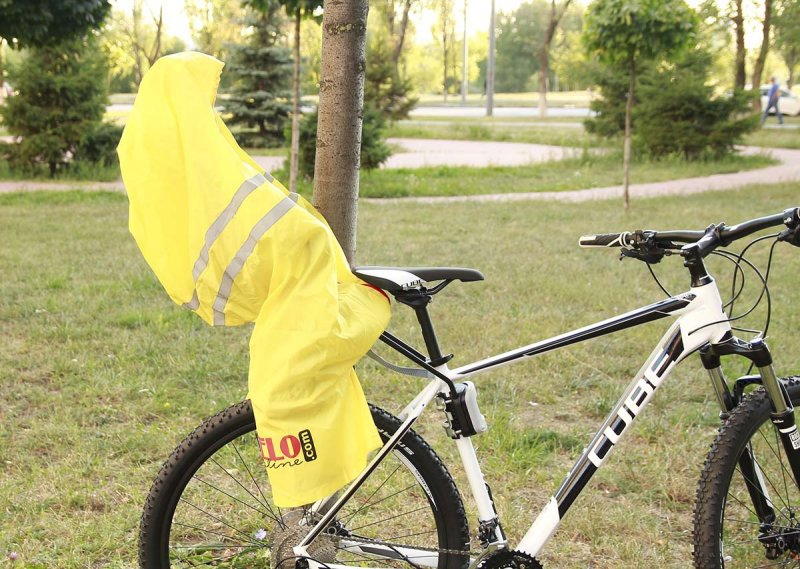 Bicycle seat cover side