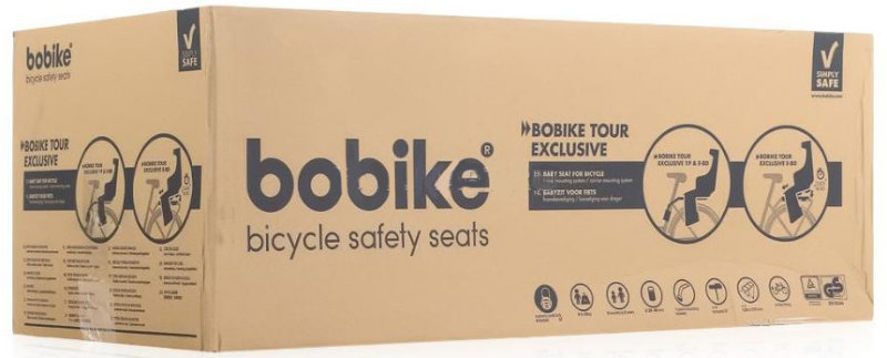 Детское велокресло Bobike EXCLUSIVE TOUR 1P denim deluxe Bobike EXCLUSIVE TOUR 1P  box 8011300019