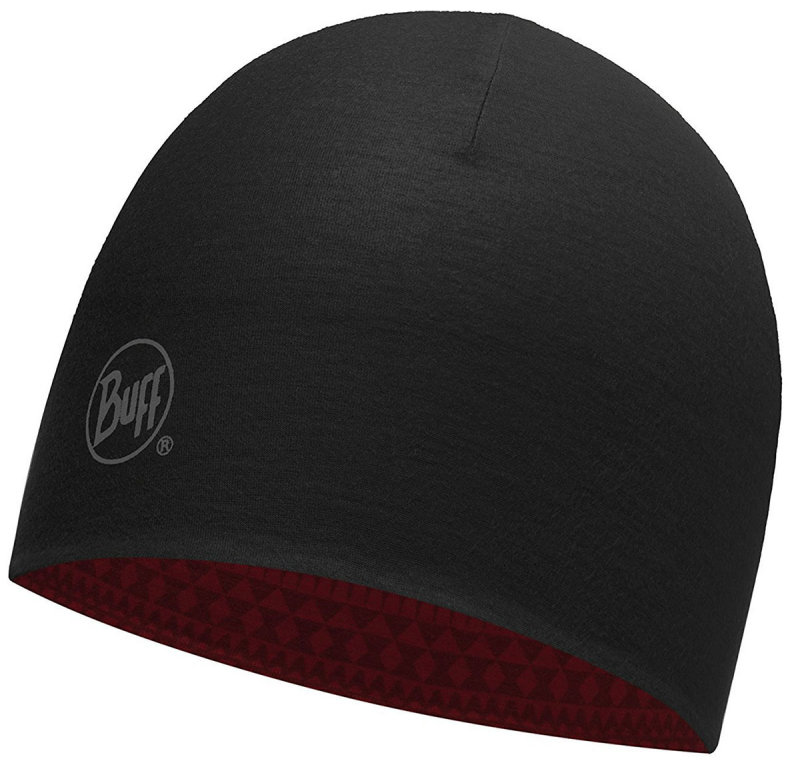 Buff Coolmax Reversible hat, portus red-black (BU 113681.425.10.00) BU 113681.425.10.00