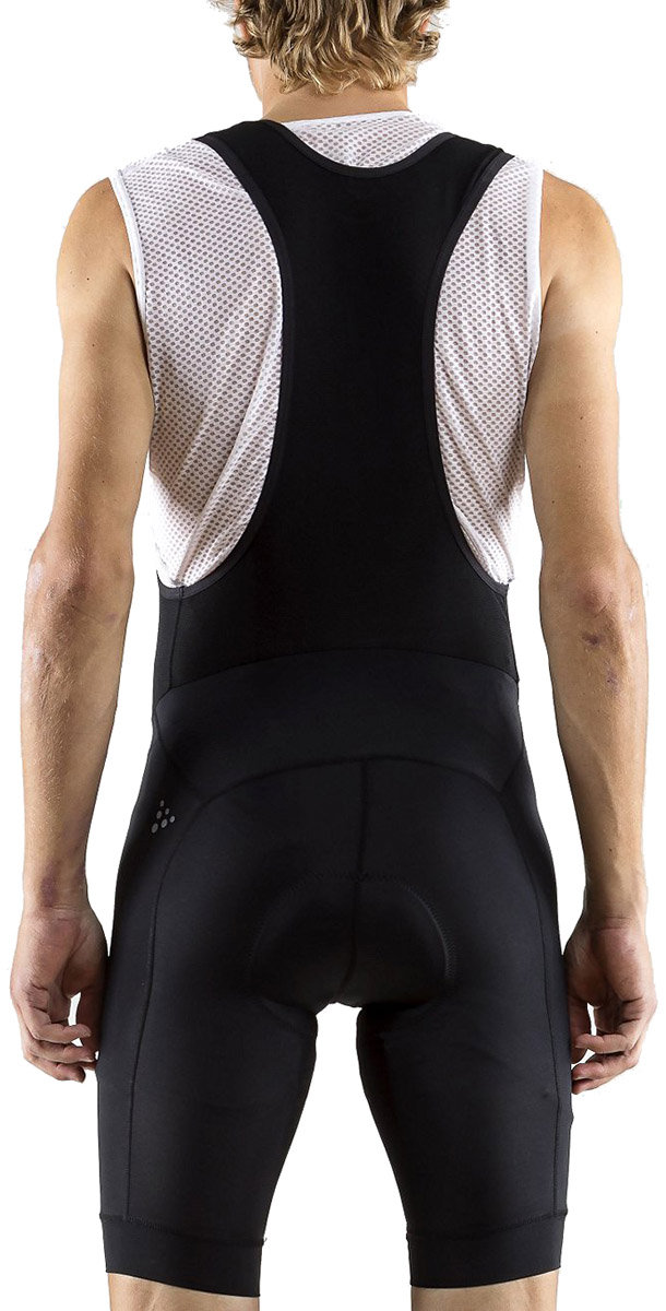 Велошорты с лямками Craft RISE BIB SHORTS black Craft RISE BIB SHORTS back