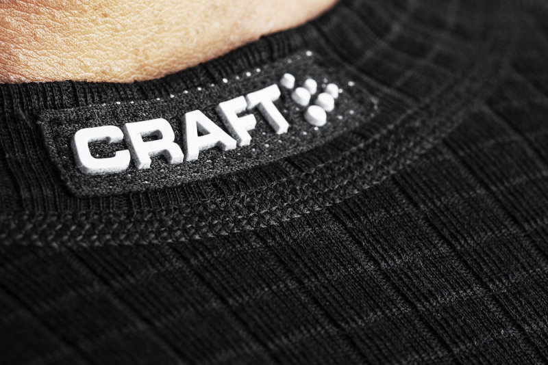 Термобелье Craft WARM WOOL CREW NECK black Craft WARM WOOL CREW NECK logo