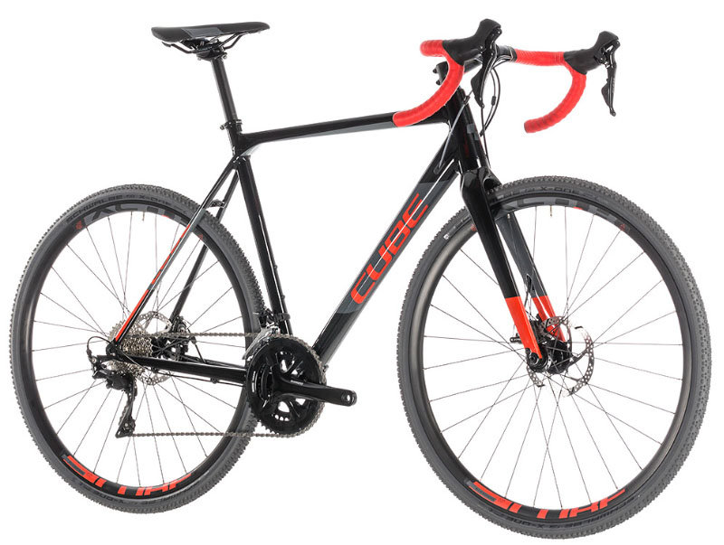 Велосипед Cube CROSS RACE black-red CROSS RACE black-red 2019 288100-58