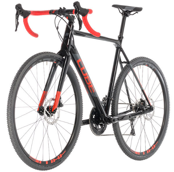 Велосипед Cube CROSS RACE black-red CROSS RACE black-red front 288100-58