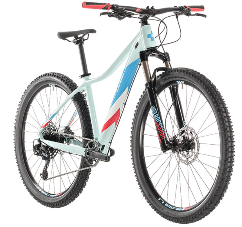 Велосипед Cube ACCESS WS EAGLE 27,5 lightblue-coral Cube ACCESS WS EAGLE front