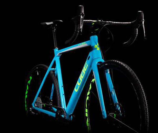 Велосипед Cube CROSS RACE SL blue-green Cube CROSS RACE SL front