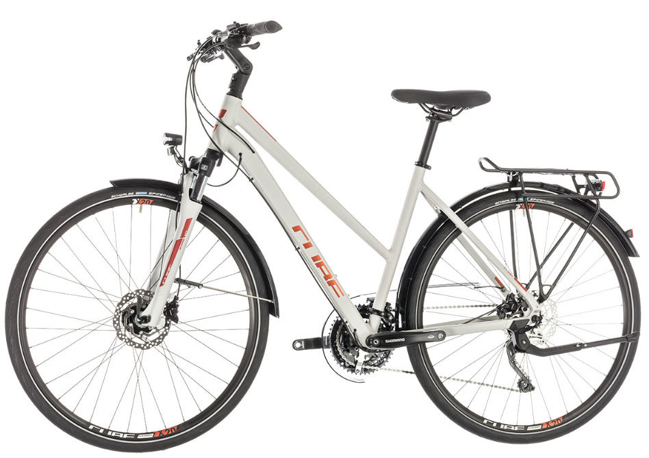Велосипед Cube TOURING EXC Trapeze grey-orange Cube TOURING EXC Trapeze side