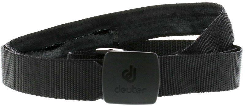 Пояс с потайным карманом Deuter SECURITY BELT black Deuter SECURITY BELT front