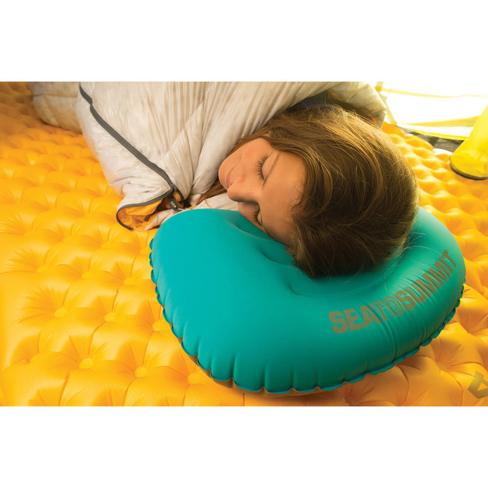 Подушка надувная Sea to Summit Aeros Ultralight Pillow Large teal/grey другой ракурс-3